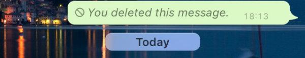 xóa tin nhắn WhatsApp