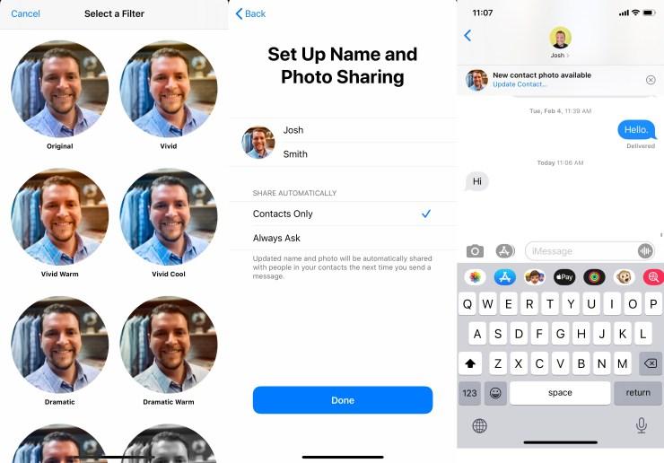 İMessage fotoğraflarınızı ve profil adınızı paylaşmak için nasıl 1