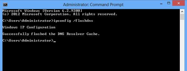 Vaciar caché de DNS