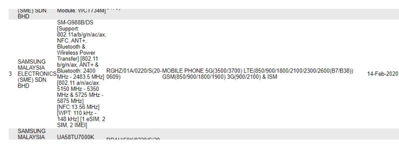 Samsung Galaxy S20 Ultra tukee Malesiassa vain aliverkkoja6 5G 1
