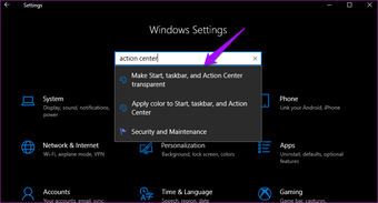Perbaiki Pusat Aksi Tidak Terlihat Ditampilkan di Taskbar Windows 10 3