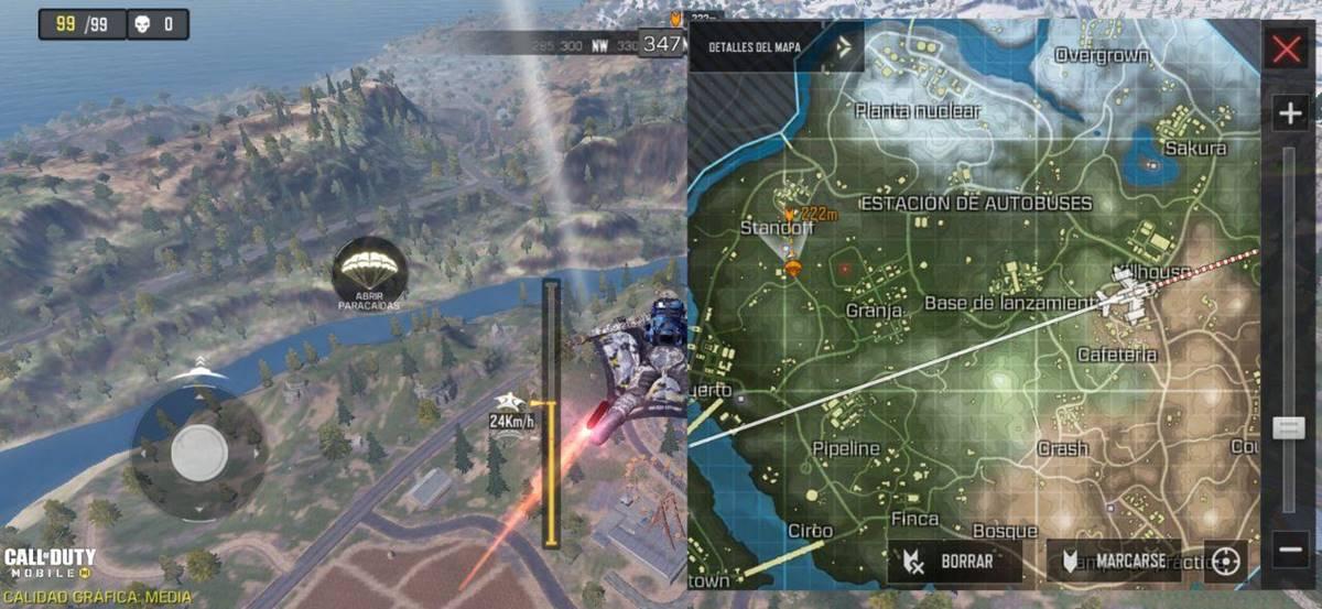 Call of Duty battle royale land