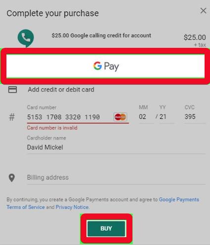 Google Voice hesabına necə kredit əlavə etmək olar 3