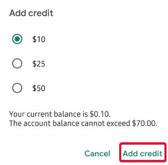 Cómo agregar crédito a una cuenta de Google Voice 6