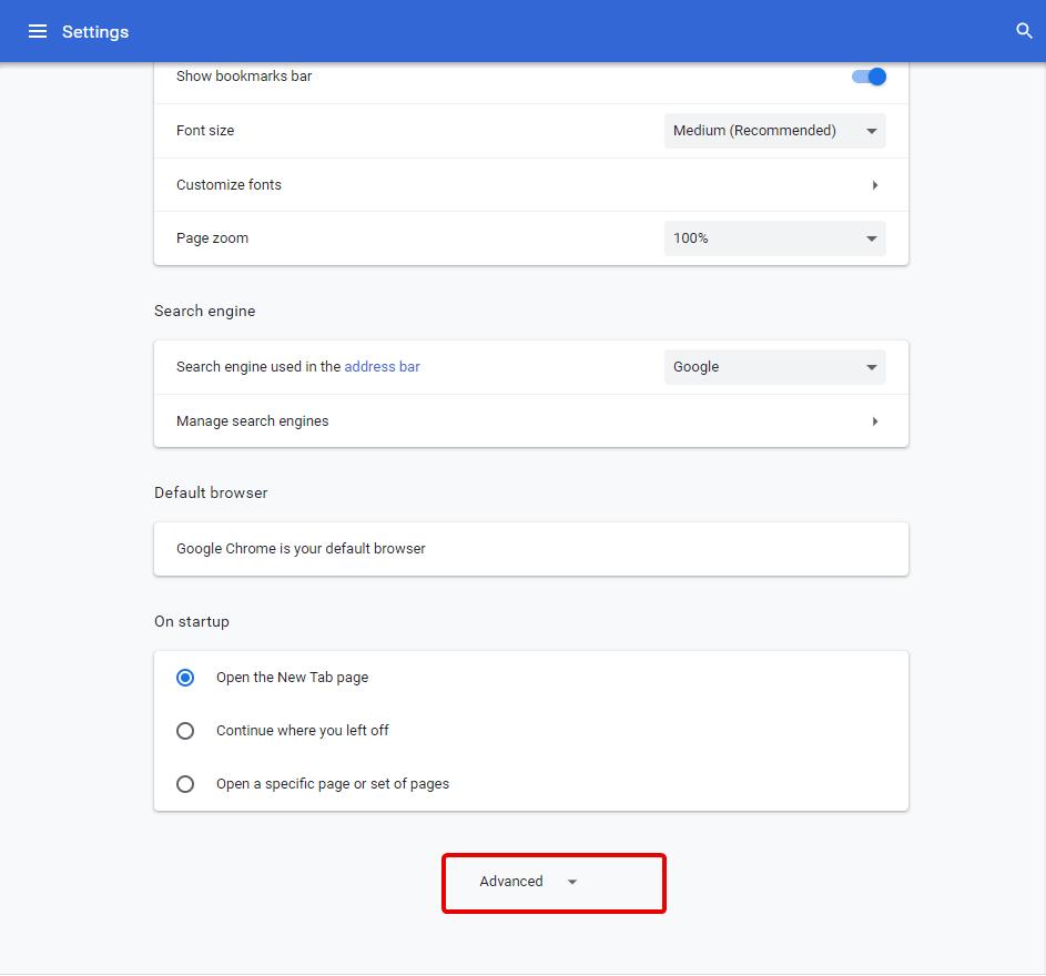 Etapas para alterar a etapa do idioma do navegador Chrome 4