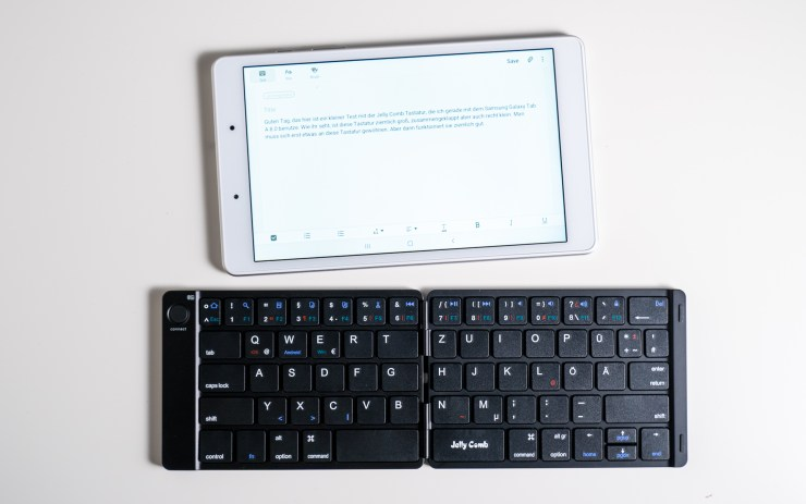 Galaxy        Tab A 8.0 with Jelly Comb keyboard
