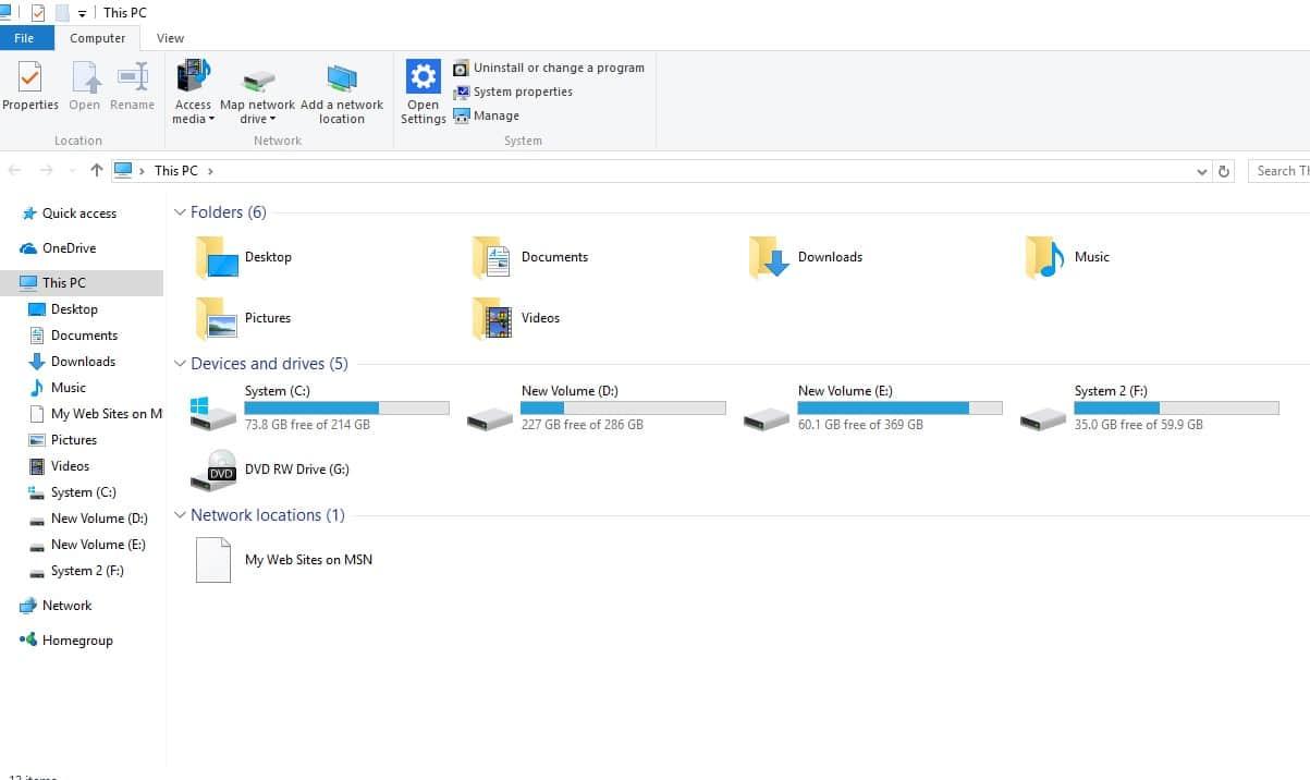 Kompüterinizdə File Explorer açın