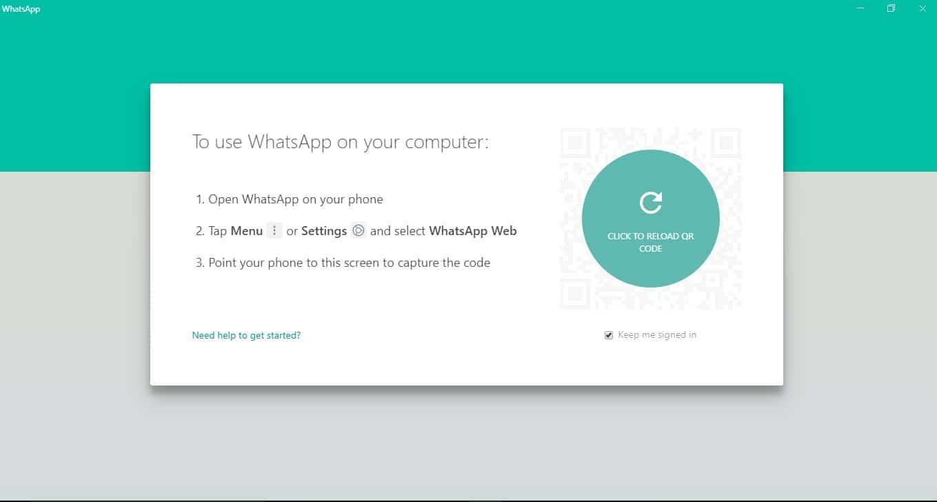 WhatsApp interfeysi