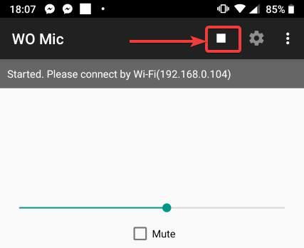 znova otvorte aplikáciu WO Mic na svojom zariadení s Androidom