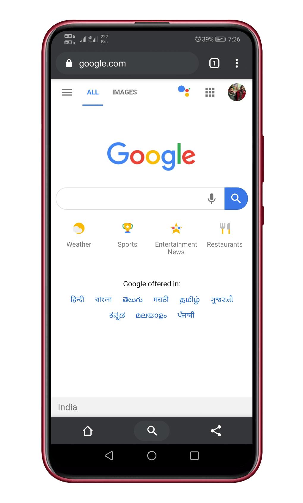 Google brauzerini açın Chrome