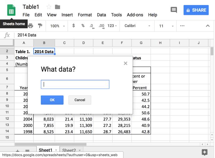 Cómo conectar datos a otras pestañas en hojas de cálculo de Google 3