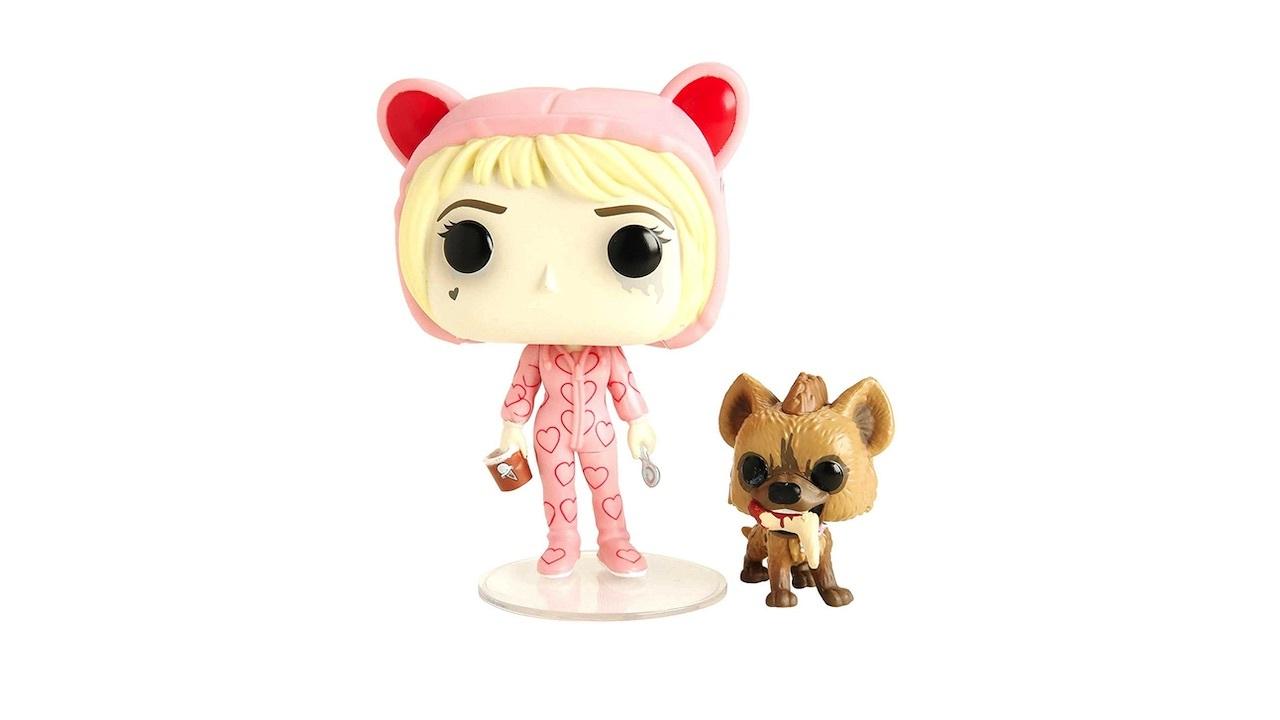 Harley Quinn med sitt husdjurhyena