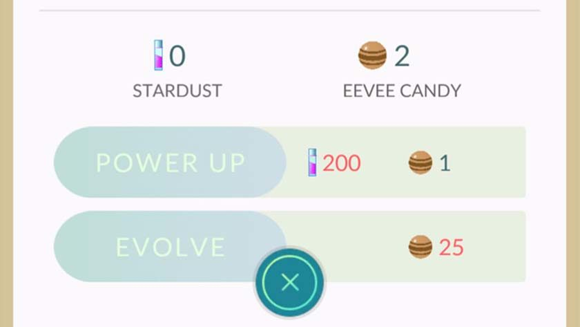 pokemon go evolve eevee