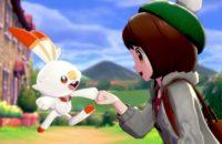 Tangkapan layar Pokemon Sword dan Pokemon Shield fist bump with scorbunny