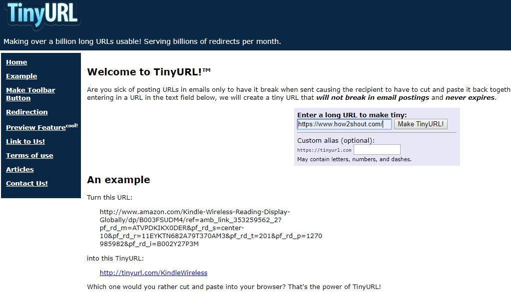TinyURL shortener-min