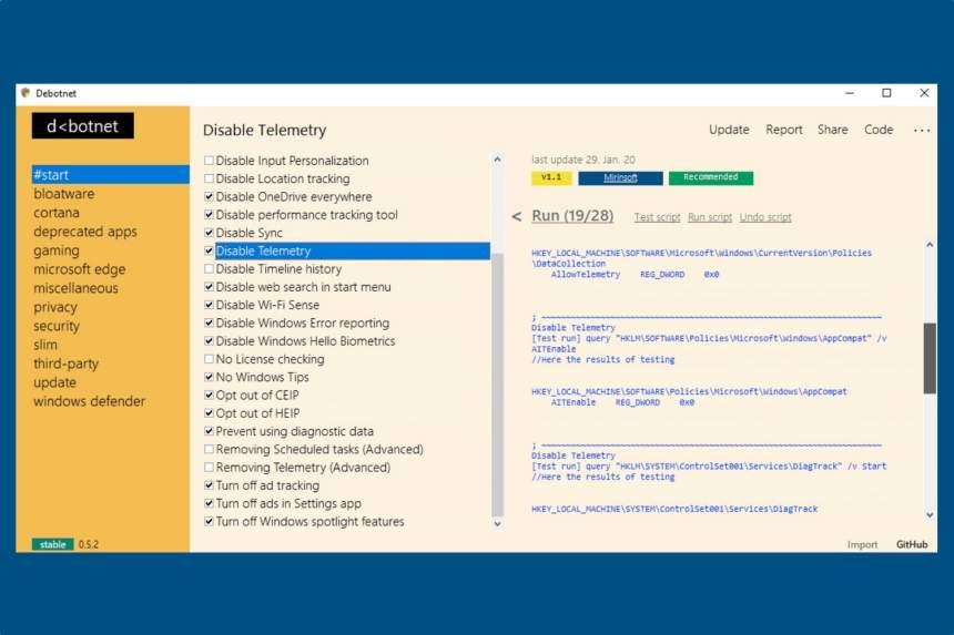 Gizliliyinizi necə qorumaq olar Windows 10 ilə Debotnet 2