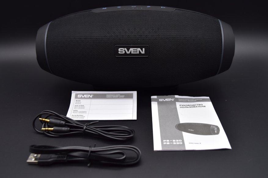 Sven PS-330: speaker nirkabel portabel dengan suara yang luar biasa 2