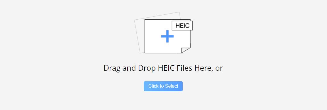 перетащите файл HEIC