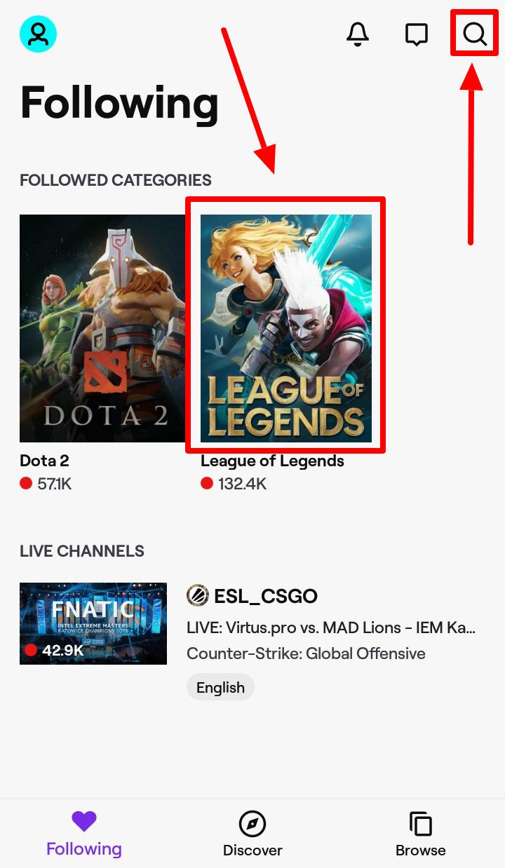 Bagaimana Menonton League of Legends di Android - Menonton Menggunakan Twitch - Langkah 5