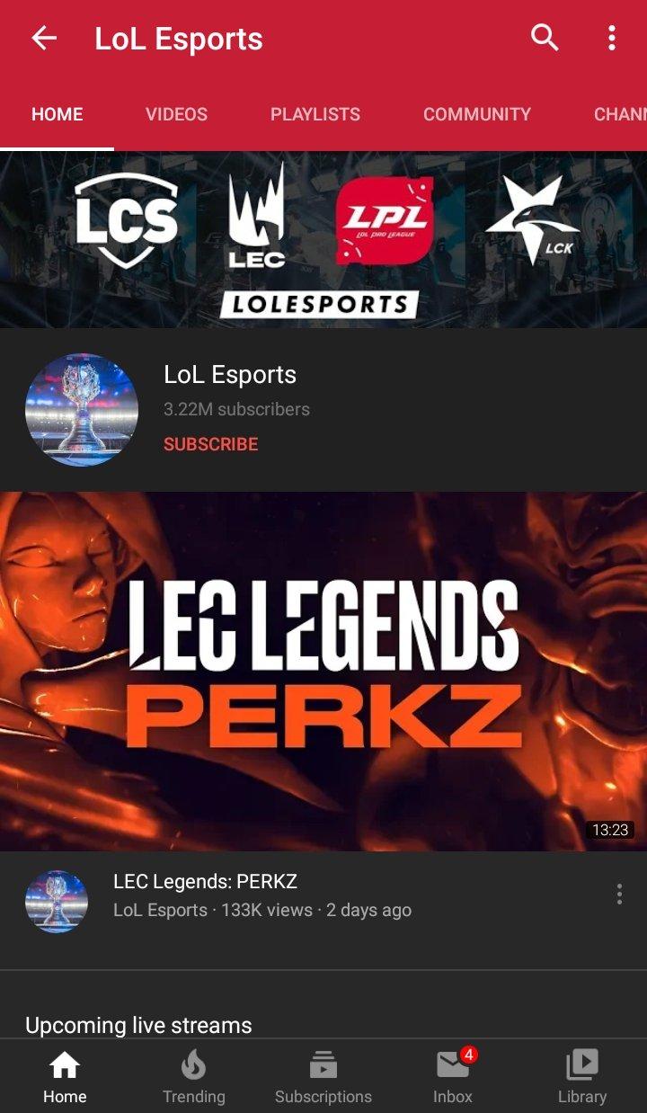 Bagaimana Menonton League of Legends di Android - Menonton Menggunakan YouTube - Saluran LoL Esports