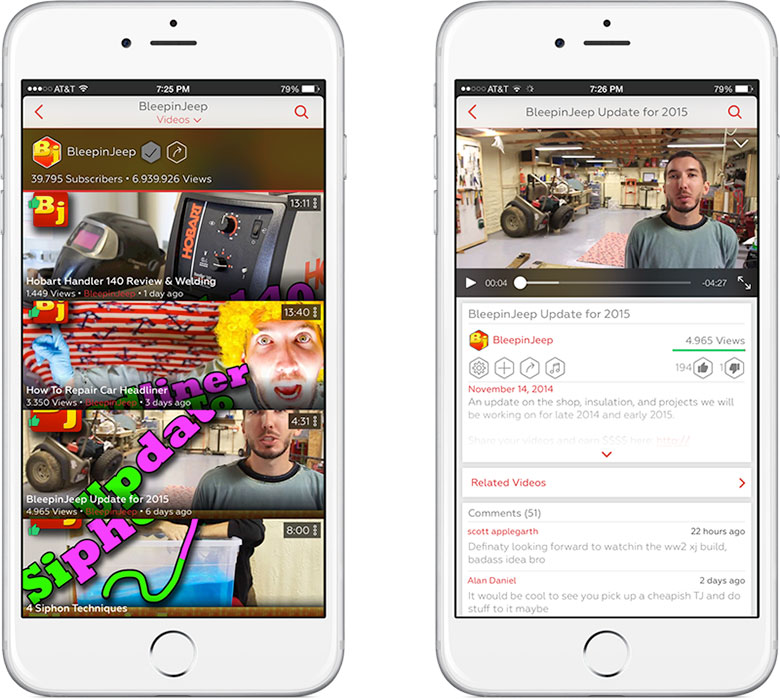 ProTube for YouTube, iPhone settings are available in App Store 3
