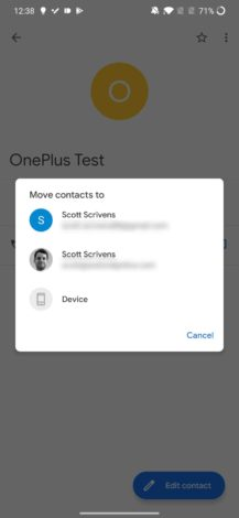 Google contacts can now backup and sync contacts saved on your phone's internal storage 4