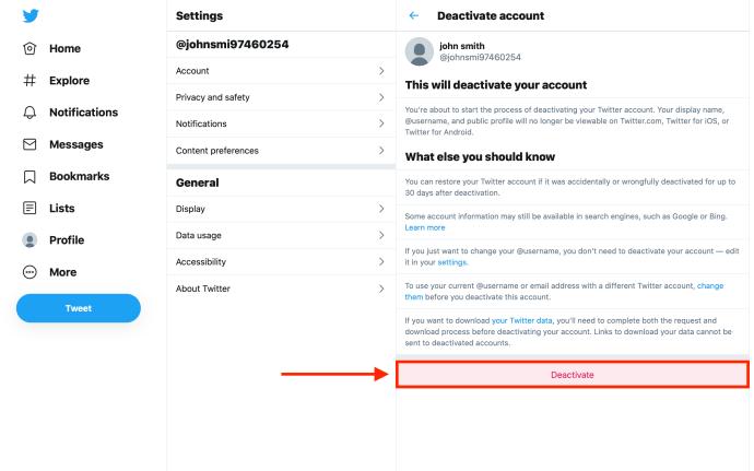 Cara Menghapus Anda Twitter Akun secara permanen 4