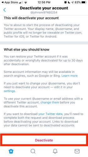 Cara Menghapus Anda Twitter Akun secara permanen 9