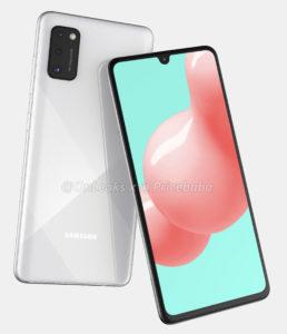 Samsung sızan dizaynı Galaxy Ekranda boşluq olmayan A41 1