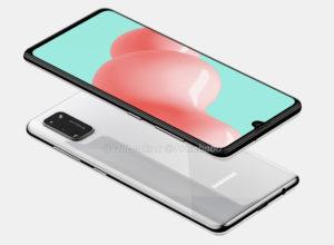 Samsung sızan dizaynı Galaxy Ekranda boşluq olmayan A41 3