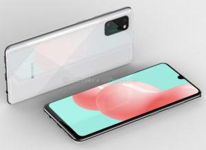 Samsung sızan dizaynı Galaxy Ekranda boşluq olmayan A41 2