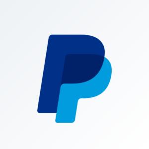 Aplicación de gestión empresarial de logotipo empresarial de Paypal