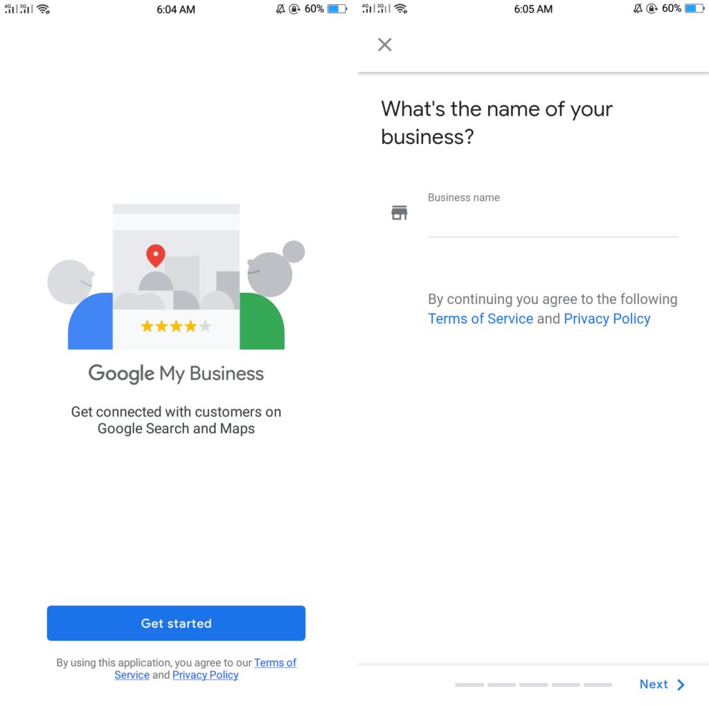 aplicación de gestión empresarial de google mi aplicación empresarial 1