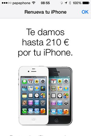 IPhonen kierrätysohjelma osuu myymälään Apple Espanjalainen kauppa 3