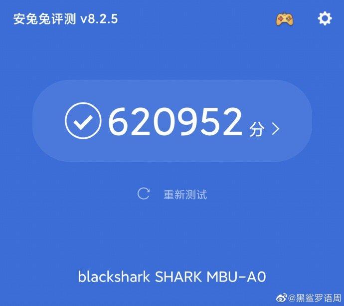 Žralok čierny 3 Pro 5G má v AnTuTu viac ako 620 K, zatiaľ najlepšie skóre 1