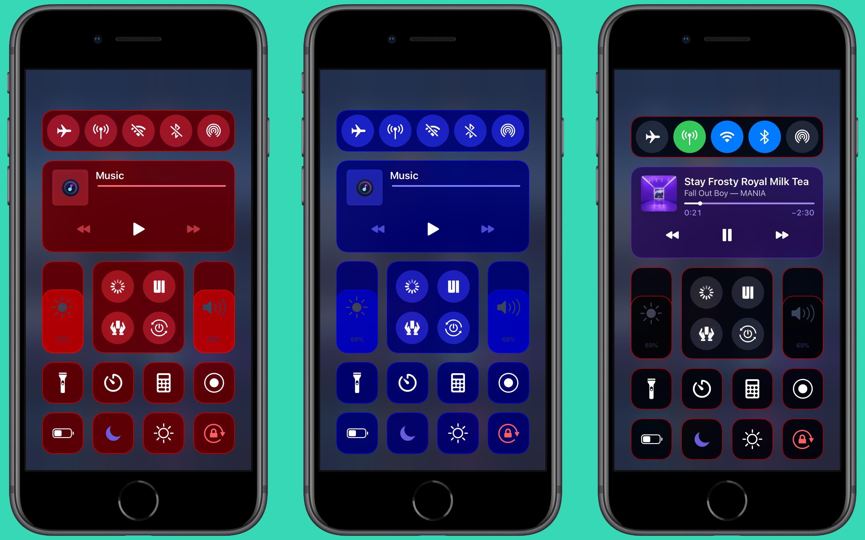 ColorMeCC, iOS İdarəetmə Mərkəzini pulsuz rəngləndirməyə imkan verir 2