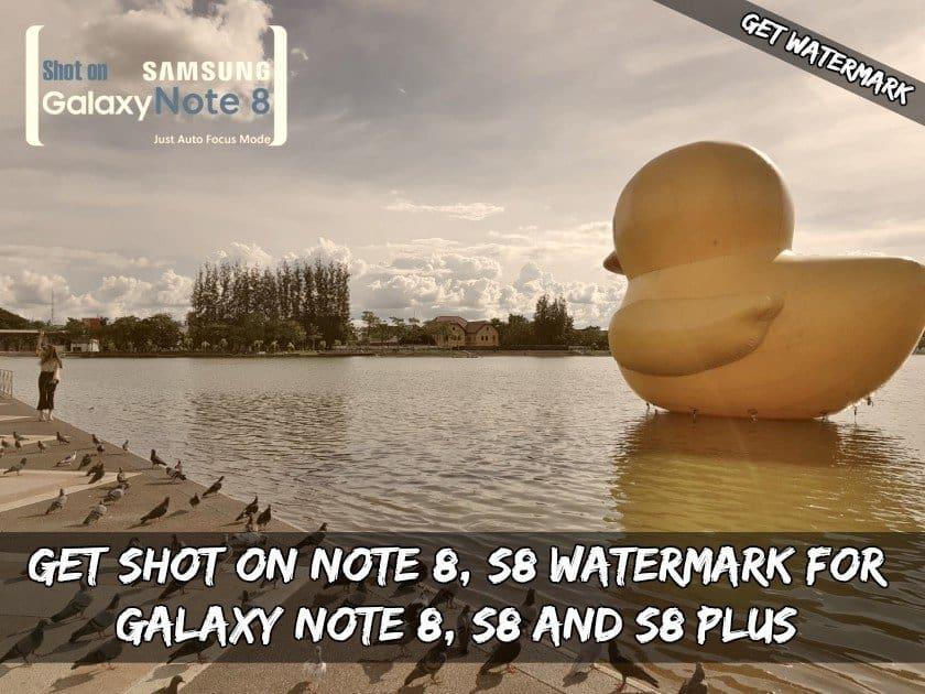 Recibió un disparo Note 8  Marca de agua S8 para Galaxy Note  8  S8 y S8 Plus