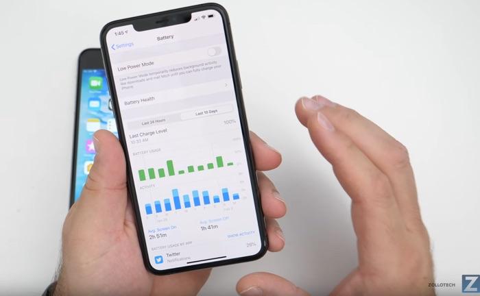Estado de la batería del iPhone