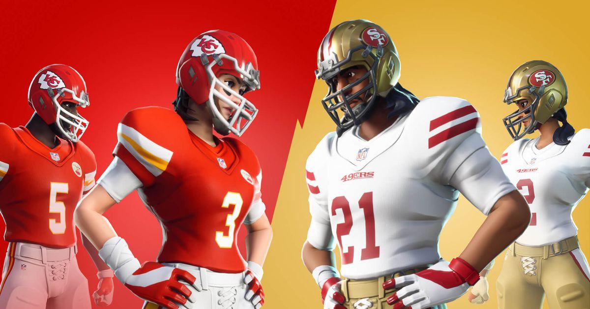 عاد الجلد NFL Fortnite لسوبر بول 2