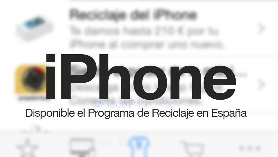 IPhonen kierrätysohjelma osuu myymälään Apple Espanjalainen kauppa 2