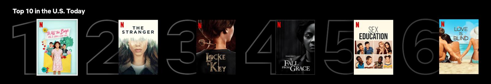 Agora você pode ver as 10 melhores listas na Netflix 1