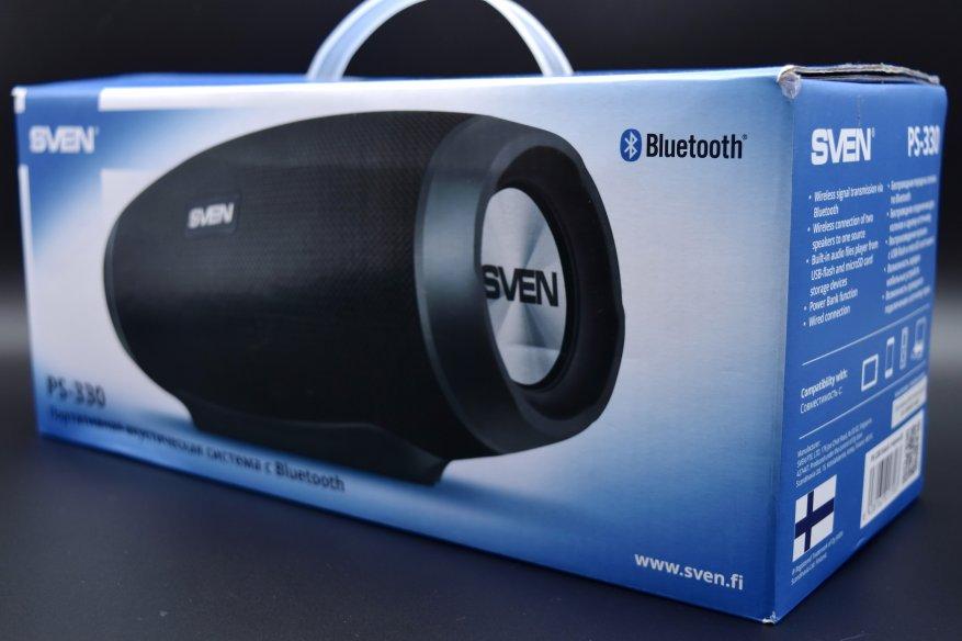 Sven PS-330: speaker nirkabel portabel dengan suara yang luar biasa 1