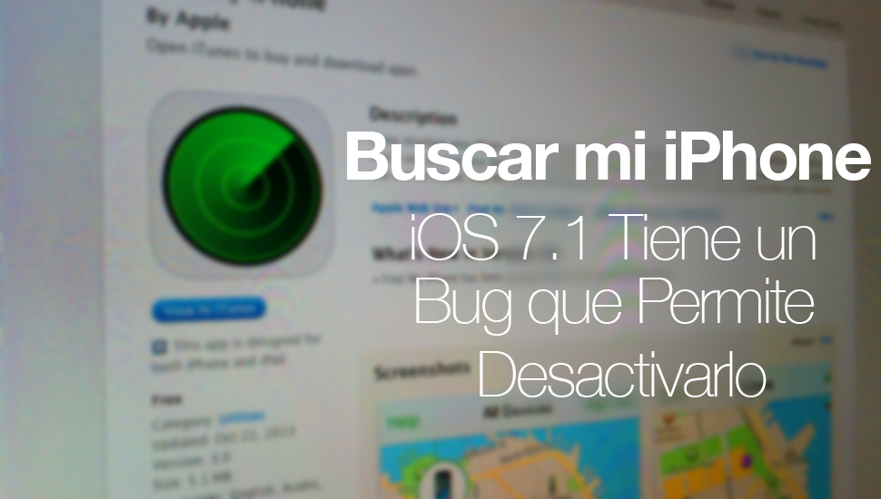 iOS 7.1 Bug Encuentra mi iPhone