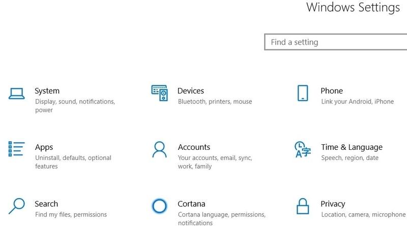 Windows        Yapılandırma sayfası