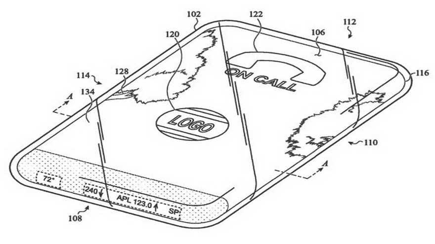 Ponsel, perangkat: Apple mematenkan sesuatu dengan banyak kaca 3