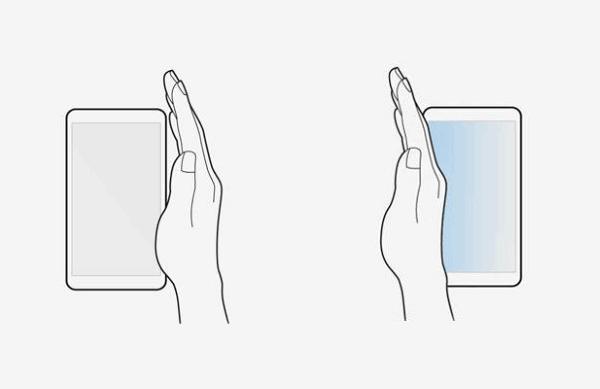 Captura de pantalla de Samsung sin el botón de encendido