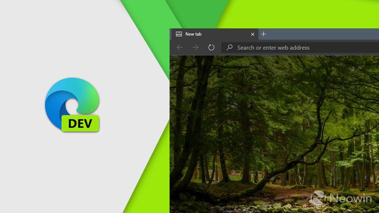 Edge Dev build 81.0.416.3 agregar muchas nuevas características menores 1