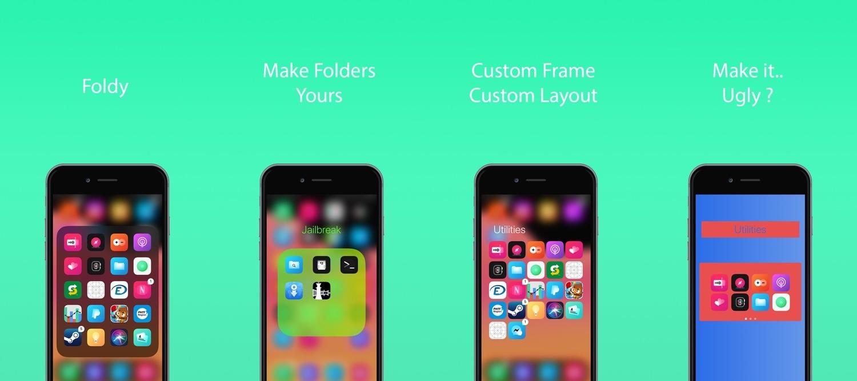 Điều khiển thư mục trên màn hình chính của iPhone bằng Foldy 2