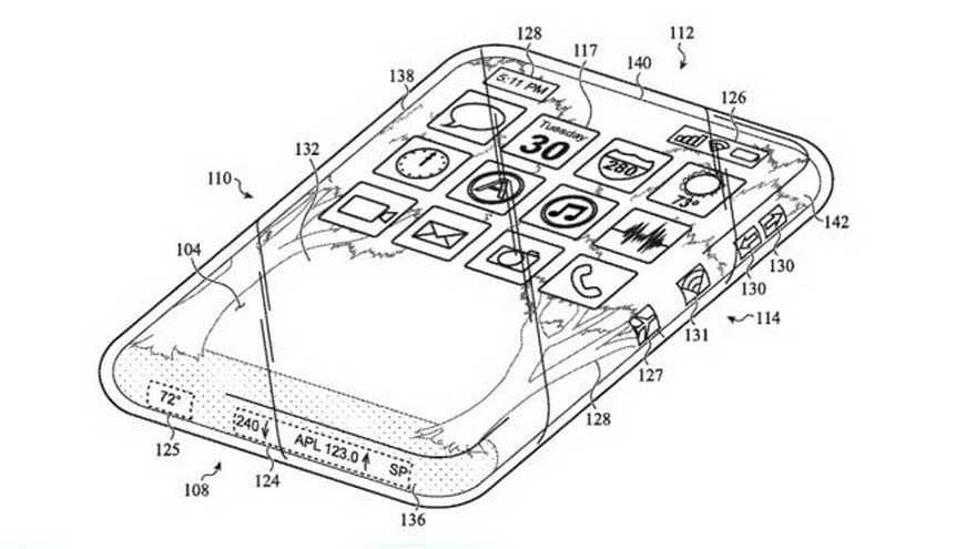 Ponsel, perangkat: Apple mematenkan sesuatu dengan banyak kaca 2
