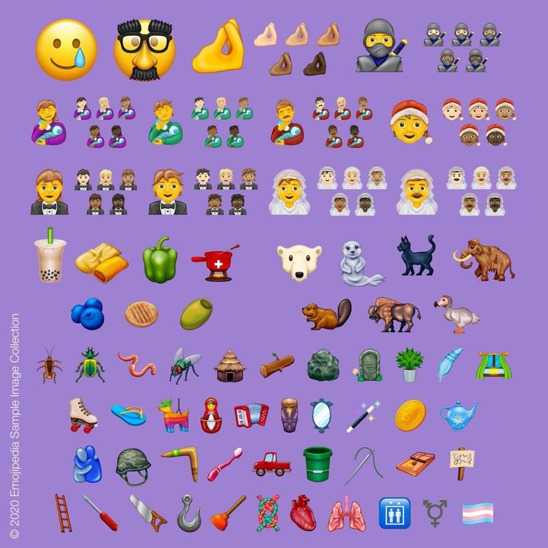 Ví dụ về biểu tượng cảm xúc 2020